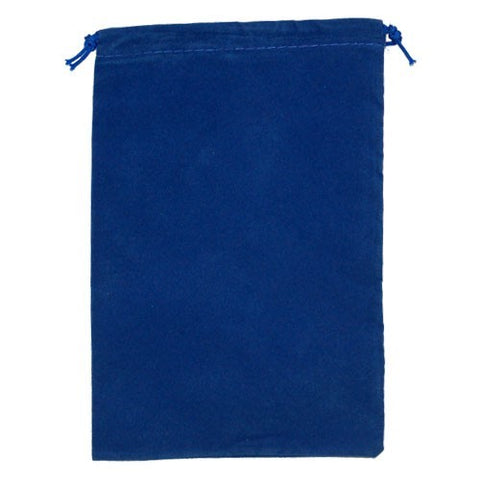 Suede Cloth Dice Bag (Large, Royal Blue)