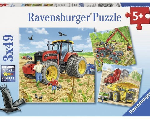 Ravensburger: Giant Vehicles - 3x49pc Puzzle