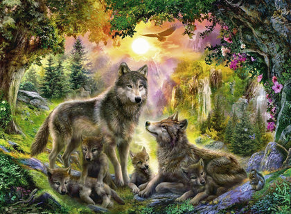 Ravensburger: Wolf Family in Sunshine - 500pc Puzzle