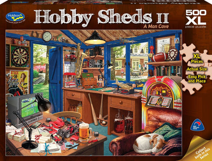 Holdson: 500 Piece Puzzle XL The Hobby Shed 2 A Man Cave