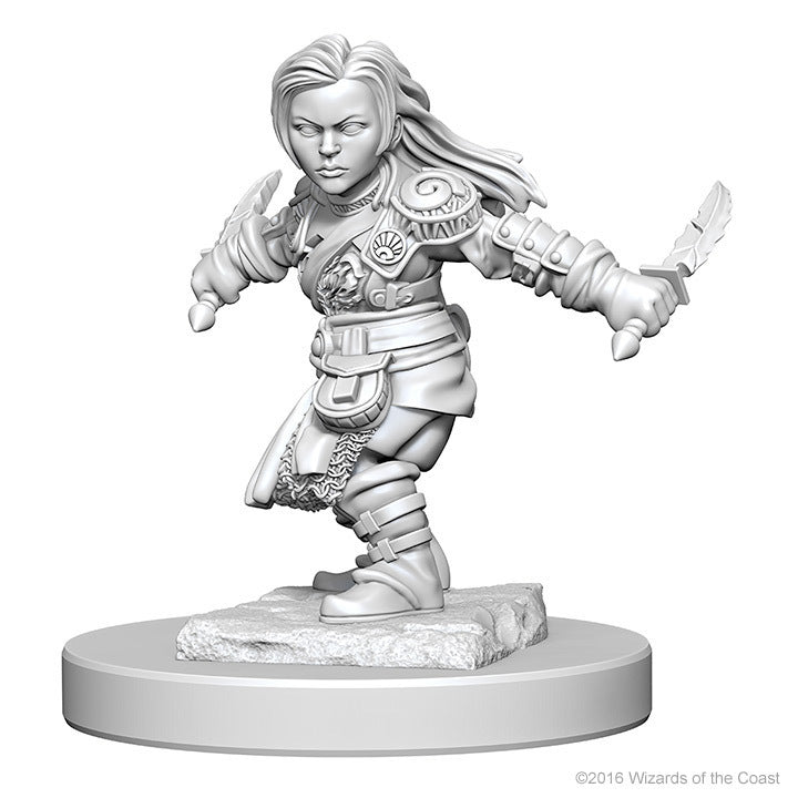 D&D Nolzur's Marvelous: Unpainted Minis - Halfling Female Rogue