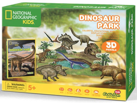 National Geographic Kids: Dinosaurs Park - 43 Piece 3D Puzzle