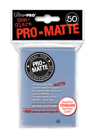 Ultra Pro Pro-Matte Standard Sleeves: Clear (50)