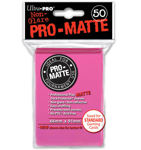 Ultra Pro Pro-Matte Standard Sleeves: Bright Pink (50)