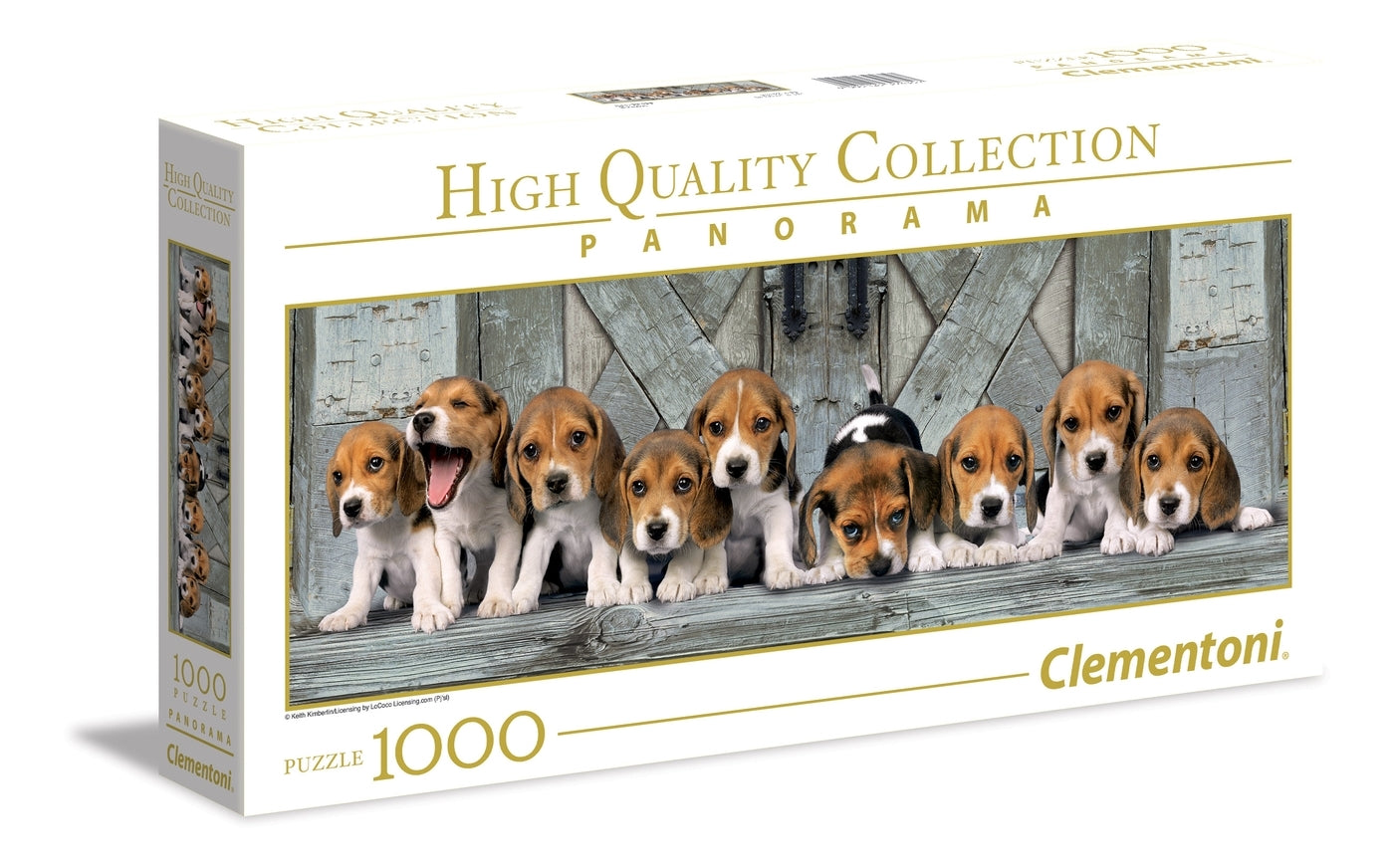 Clementoni Panorama: 1000-Piece Puzzle - Beagles