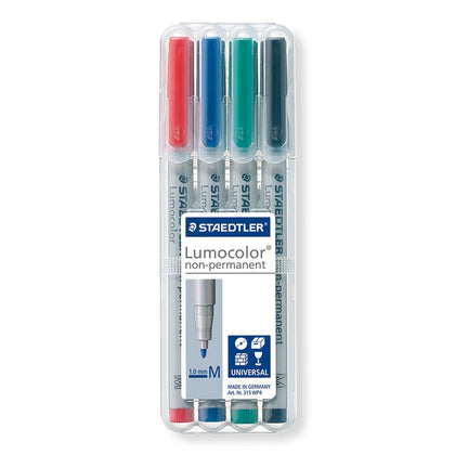 Staedtler: Lumocolor Non-Permanent Medium Tip Pens (Set of 4)