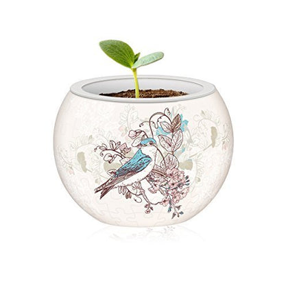 Pintoo: 80-Piece Puzzle Flower Pot - Singing Birds & Flowers