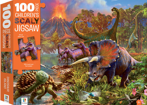 Hinkler: 100-Piece Scaly Jigsaw Puzzle - Dinosaurs