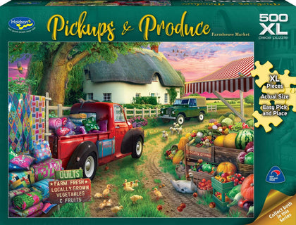 Holdson XL: 500 Piece Puzzle - Pickups & Produce (Farmhouse Market)
