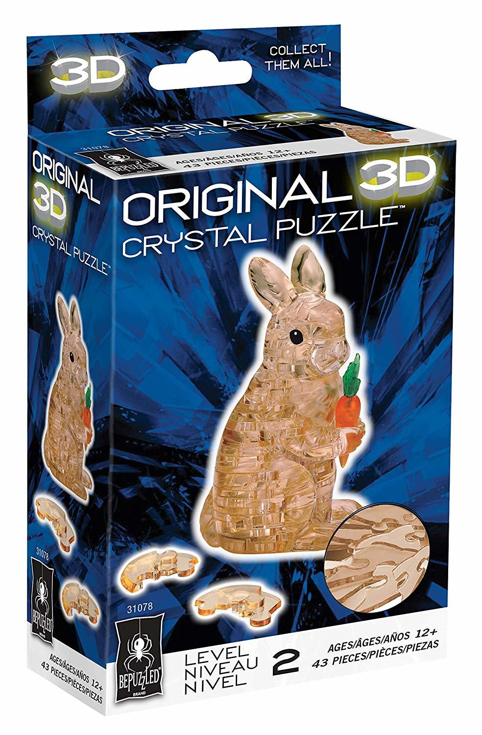 Crystal Puzzle - Brown Rabbit
