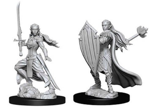 D&D Nolzur's Marvelous: Unpainted Miniatures - Female Elf Paladin