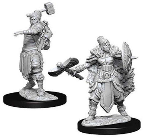 D&D Nolzur's Marvelous: Unpainted Miniatures - Female Half Orc Barbarian