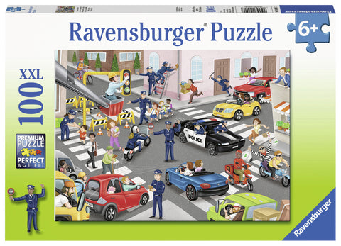 Ravensburger: 100 Piece Puzzle - Police on Patrol