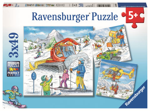 Ravensburger: 3x49 Piece Puzzle Set - Let's Go Skiing!