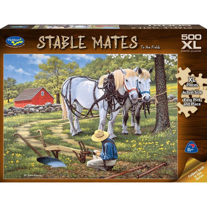 Holdson XL: 500 Piece Puzzle - Stable Mates (To the Fields)
