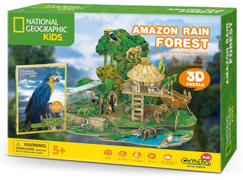Cubic Fun: National Geographic: 3D Puzzle - Rain Forest