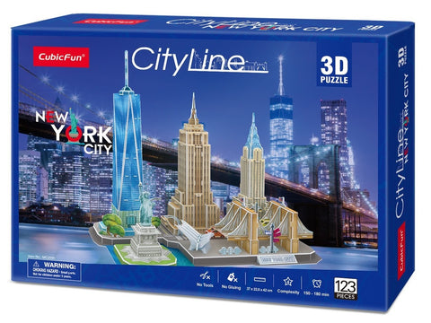 Cubic Fun: City Line 3D Puzzle - New York