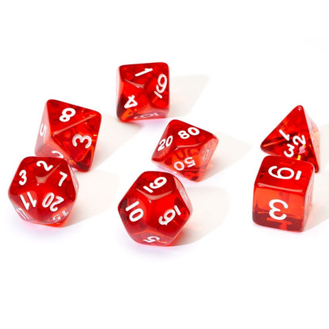 Sirius Dice: Polyhedral Dice Set - Translucent Red