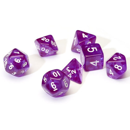 Sirius Dice: Polyhedral Dice Set - Translucent Purple