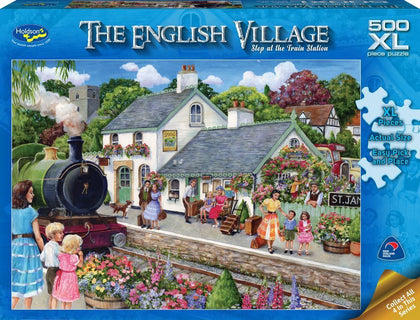 Holdson XL: 500 Piece Puzzle - The English Village S2 (At the Train Station )