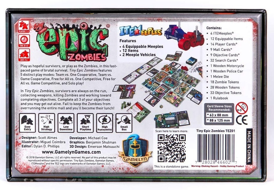 Tiny Epic Zombies - Board Game
