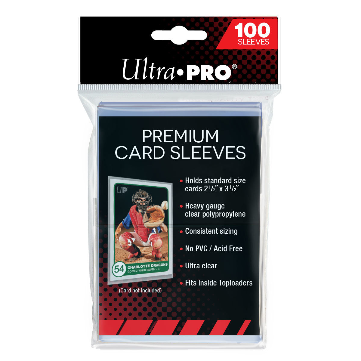 "Ultra Pro: Premium Card Sleeves (2-1/2"" x 3-1/2"")"