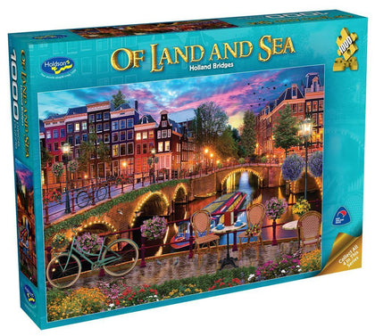 Holdson: 1000 Piece Puzzle - Of Land & Sea S2 (Holland Bridges)