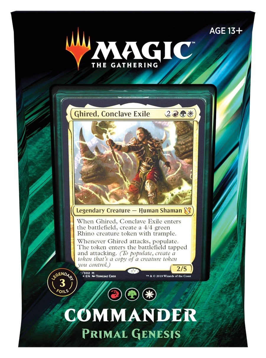 Magic The Gathering: Commander 2019: Primal Genesis