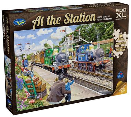 Holdson XL: 500 Piece Puzzle - At the Station (Horsted Keynes On The Bluebell Railway)