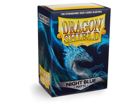 Dragon Shield Matte Night Blue Sleeves