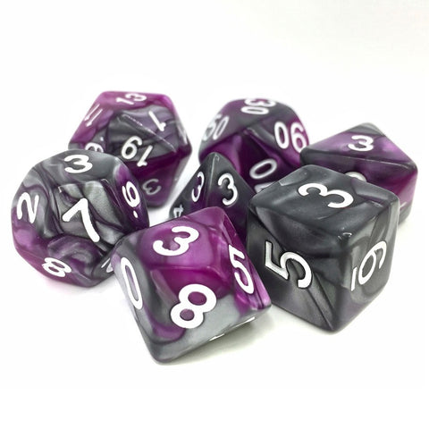 King's Purser Fusion Polyhedral Dice Set