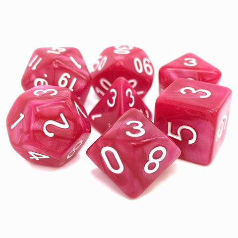 Coral Grief Polyhedral Dice Set