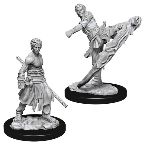 D&D Nolzur's Marvelous: Unpainted Miniatures - Male Half-Elf Monk