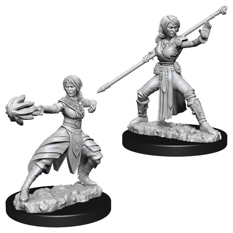 D&D Nolzur's Marvelous: Unpainted Miniatures - Female Half-Elf Monk