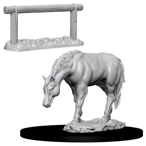 D&D Nolzur's Marvelous: Unpainted Miniatures - Horse & Hitch
