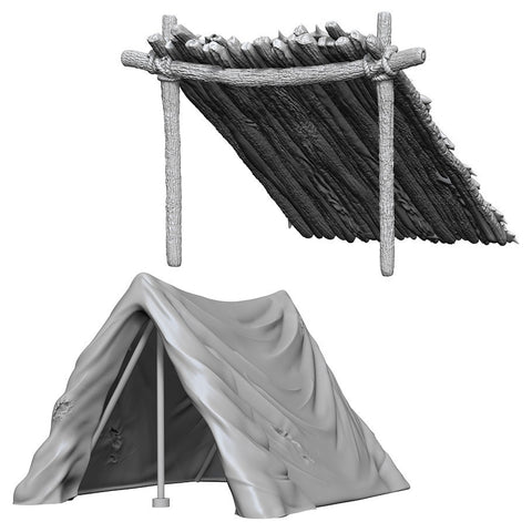 WizKids Deep Cuts: Unpainted Miniatures - Tent & Lean-To
