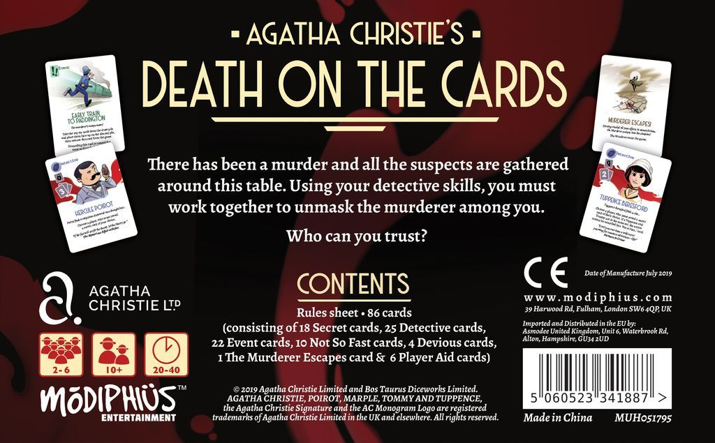 Agatha Christie: Death on the Cards - Card Game