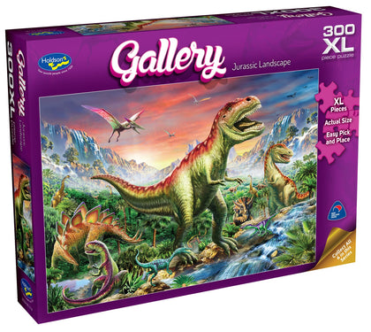 Holdson XL: 300 Piece Puzzle - Gallery S6 (Jurassic Landscape)