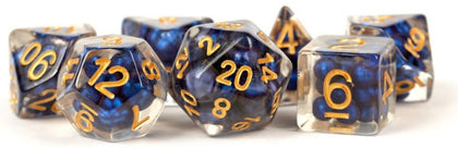 MDG: Pearls Polyhedral Dice Set - Royal Blue-Gold