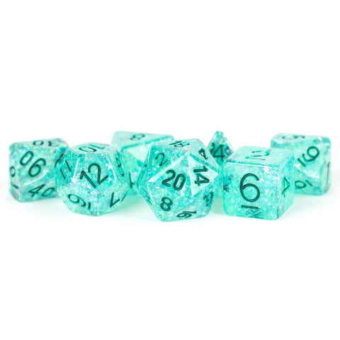 Flash Polyhedral Dice set: Translucent Green