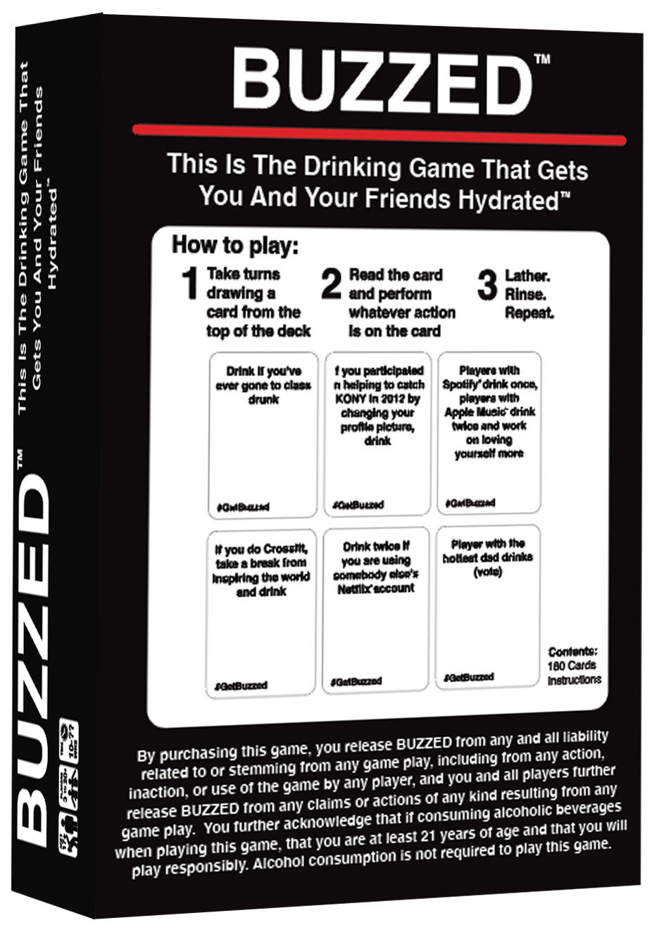 Buzzed: Hydrated Edition - Party Game