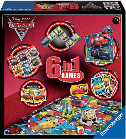 Ravensburger: Disney Cars 3 - 6-in-1 Games