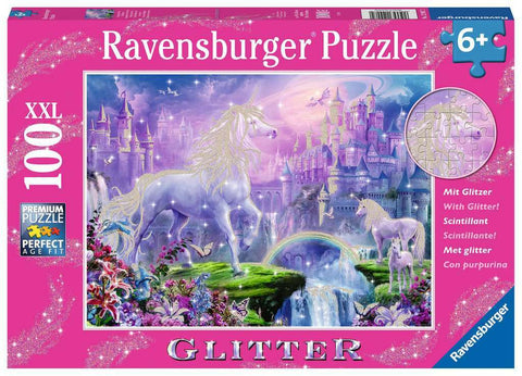 Ravensburger: 100 Piece Puzzle - Unicorn Kingdom (Glitter)