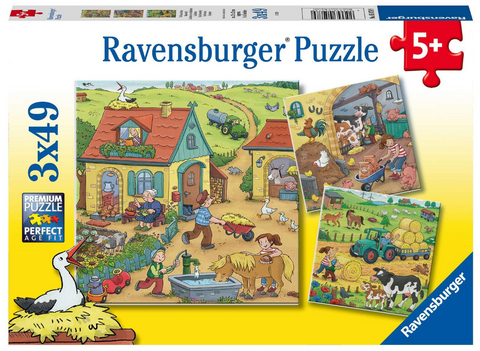 Ravensburger: 3 x 49 Piece Puzzles - On the Farm