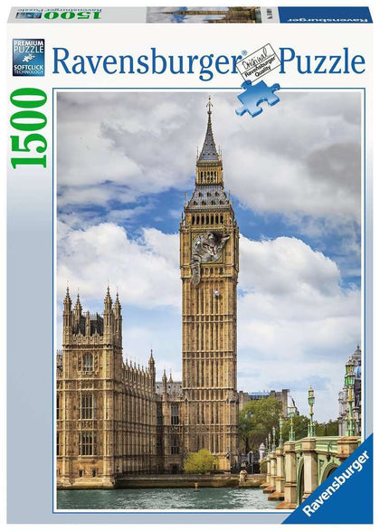 Ravensburger: 1,500 Piece Puzzle - Funny Cat on Big Ben