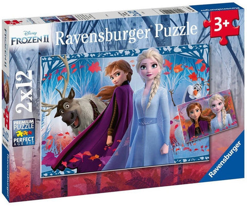 Ravensburger: Disney 2x12-Piece Puzzle - Frozen 2: Journey to the Unknown