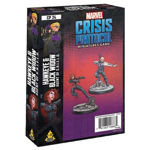 Marvel Crisis Protocol Miniatures Game Hawkeye and Black Widow Character Pack