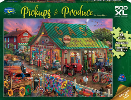 Holdson XL: 500 Piece Puzzle - Pickups & Produce S2 (Antique Barn)