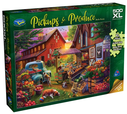 Holdson XL: 500 Piece Puzzle - Pickups & Produce S2 (Bells Farm)