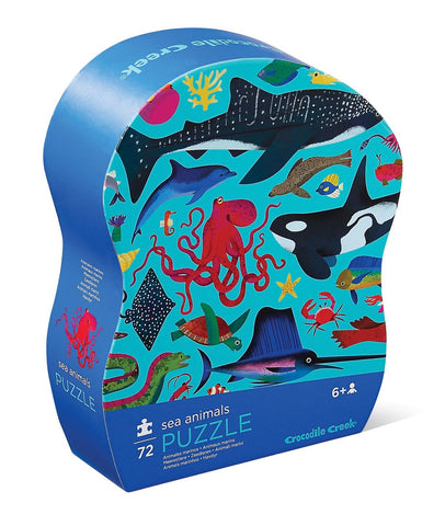 Crocodile Creek: Shaped Box Puzzle - Sea Animals